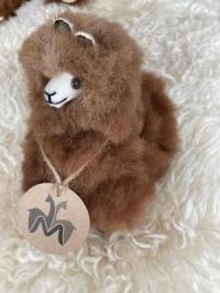 Alpakafell-Tier braun