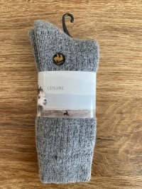 Alpaka-Socken EXTRA Größe 40 - 42, grau