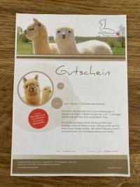 Alpaka-Glühweinwanderung für 1 Person - PDF- Gutschein