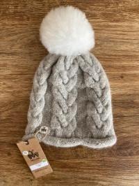 Alpaka-Mütze ECO grau